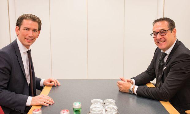 Kurz trifft FPÖ-Chef Strache