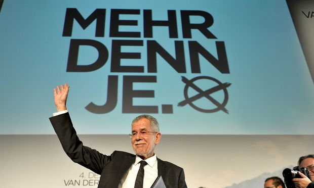BP-WAHL: WAHLKAMPFAUFTAKT VAN DER BELLEN: VAN DER BELLEN