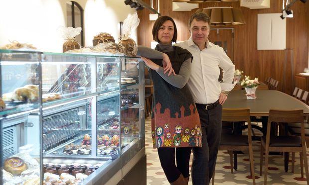 Samuela Ferrari-Viscovich und Pietro Viscovich in ihrem neuen Lokal.