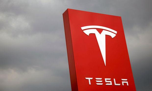 FILE PHOTO - The Tesla logo in Taipei