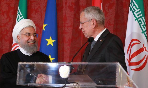 Praesident IRAN Hassan ROHANI Wien Hofburg 04 07 2018 Hassan ROHANI Alexander van der BELLEN