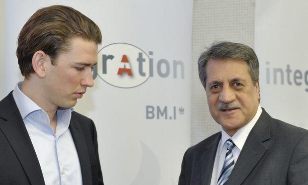 Muslime werfen IGGiÖ-Präsident Fuat Sanac (r.) vor, er habe sich gegen Integrationsminister Sebastian Kurz nicht durchgesetzt.