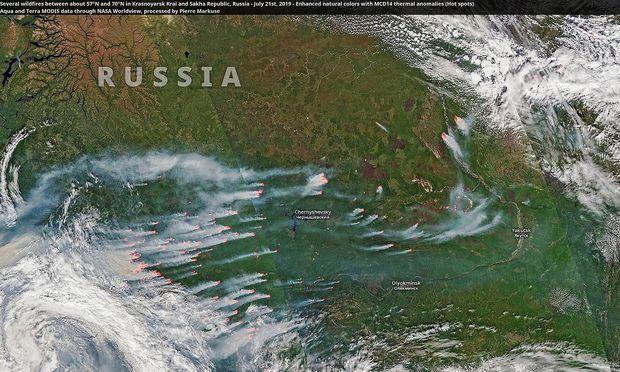 Waldbrände Alaska Karte.Satellitenaufnahmen Zeigen Waldbrände In Der Arktis Diepresse Com