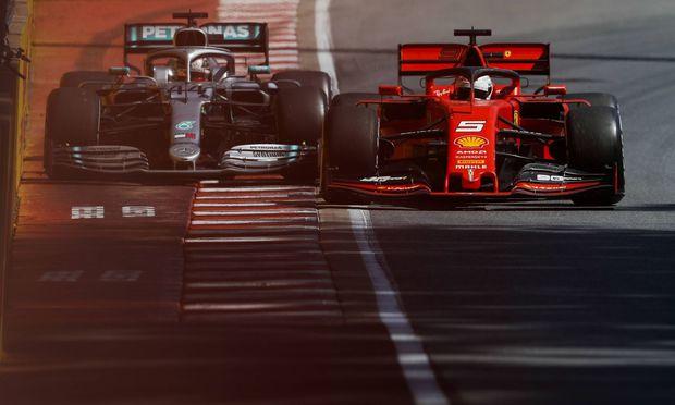 2019 Canadian GP CIRCUIT GILLES VILLENEUVE CANADA JUNE 09 Sebastian Vettel Ferrari SF90 and Lew