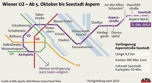 Wiener U Bahnlinie U2 Fährt Nun Bis Zur Seestadt Diepressecom