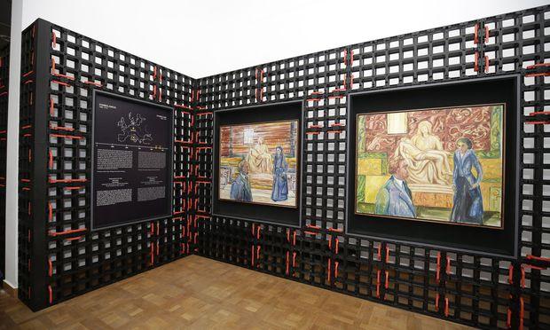 """""""Enttäuschte Erwartung I, II"""": Wie Beltracchi denkt, dass Munch Nietzsche/Salomé gemalt hätte."""
