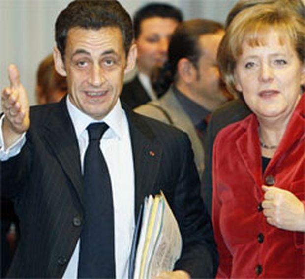 Sarkozy und Merkel beim EU-Gipfel