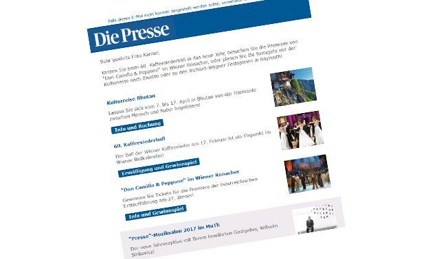 """Beispiel """"Presse""""-Club-Newsletter"""