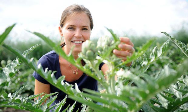 Theuringer hat mit einem Experiment begonnen. Heute kultiviert sie auf fünf Hektar Artischocken.
