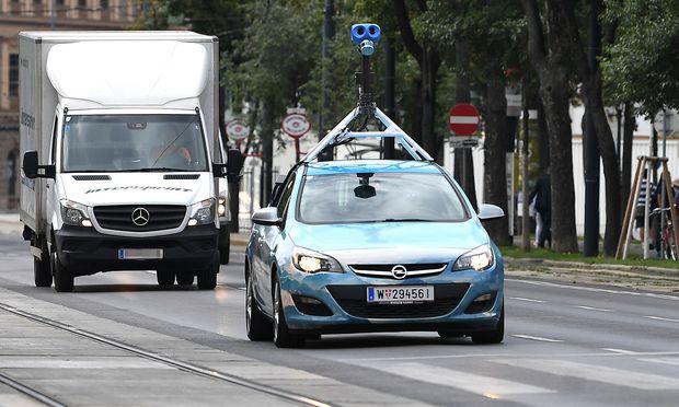 Ein Google-Fahrzeug in Wien