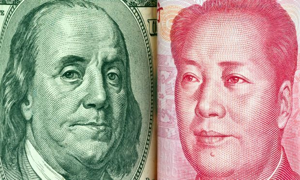 China Geld Yuan und Dollar BLWX018001 Copyright xblickwinkel McPhotox Wodickax