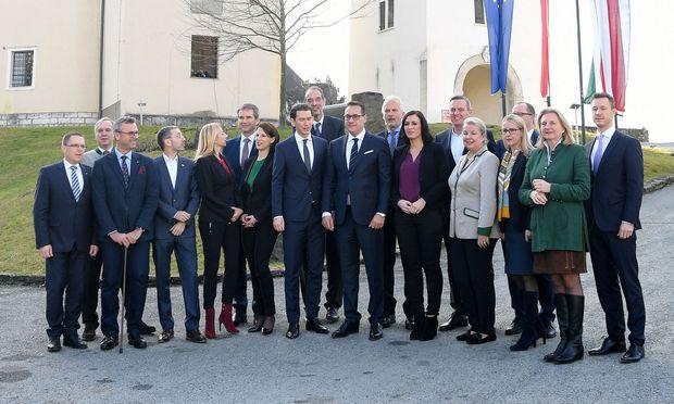 Erste Klausur der Bundesregierung in Seggauberg am Freitag, 5. Jänner 2018.