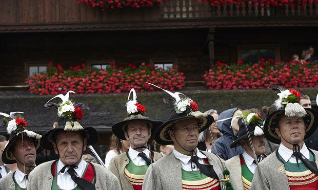 Mitglieder der Schützenkompanie Alpbach