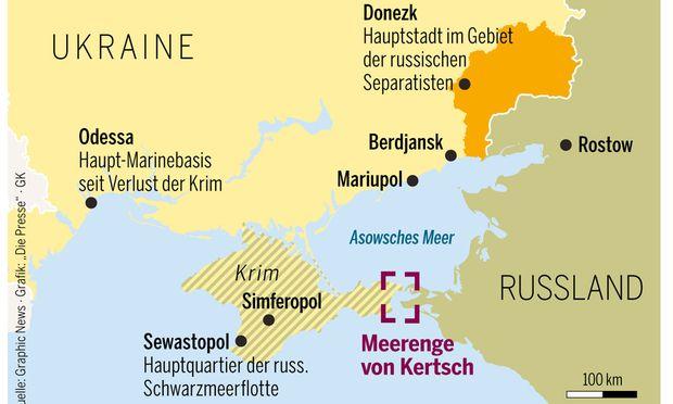 Krim-Krise: Russland feuert auf ukrainische Boote