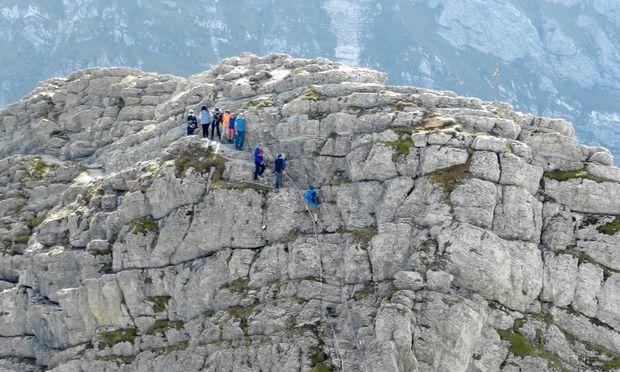 Auf dem Säntis, dem markanten Gipfel in der Ostschweiz.