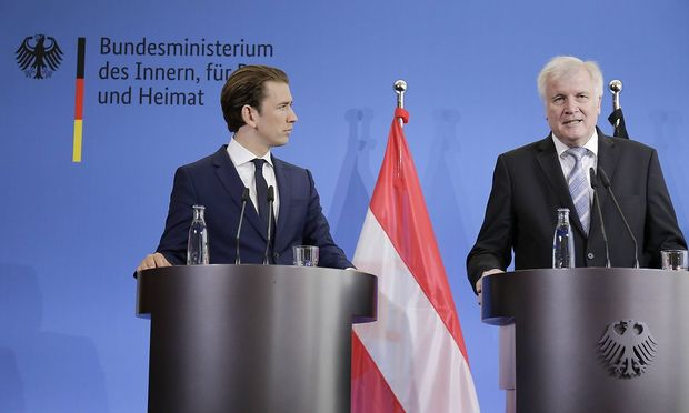 Kanzler Kurz und der deutsche Innenminister Seehofer sind in Sachen Migration auf einer Wellenlänge.
