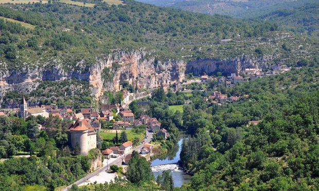 Das Werk des Flusses Vézère.