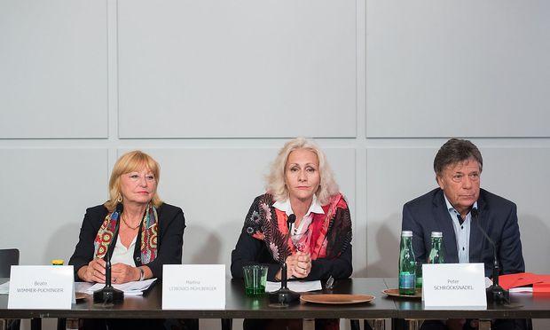 PRAeSENTATION DER ERGEBNISSE DER EXPERTENKOMMISSIONEN ZU GEWALT IM SKISPORT: WIMMER-PUCHINGER / LEIBOVICI-MUeHLBERGER /  SCHROeCKSNADEL