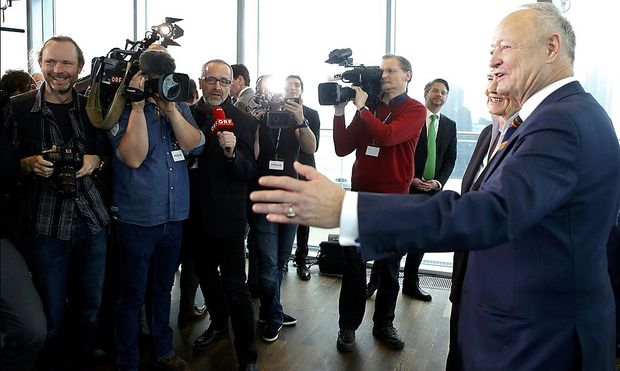 Andreas Khol bei der Pressekonferenz