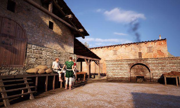 Im Bild: Ein Rendering des Speichergebäudes und des Ofens im Tavernenbereich
