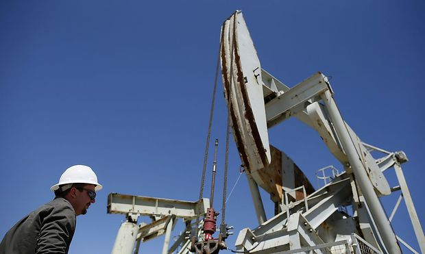 A pumpjack drills for oil in the Monterey Shale, California