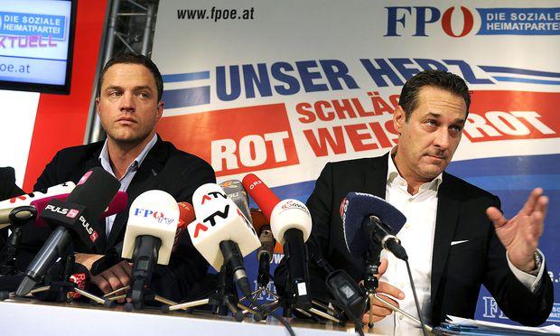 Ex-FP-Klubchef Johann Gudenus mit Ex-Vizekanzler Heinz-Christian Strache