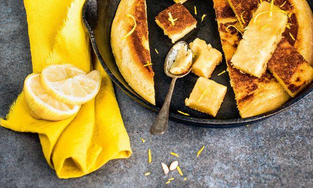 Kuchen aus der Pfanne