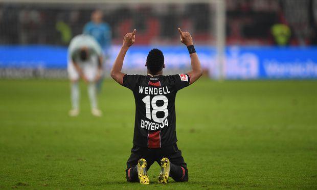 Wendell jubelt für Leverkusen, die Bayern sind geschlagen.