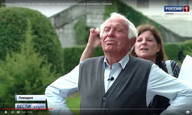 """""""Ukrainische Spuren habe ich keine gefunden"""", sagt Holender über seine Reise auf die Krim, von der auch das russische Staatsfernsehen berichtete."""