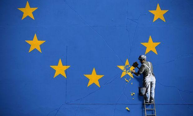 So stellt sich der britische Künstler Banksy die Abwicklung der EU-Mitgliedschaft seines Landes vor. Nun präsentierte die EU-Kommission ihre Vorstellungen.
