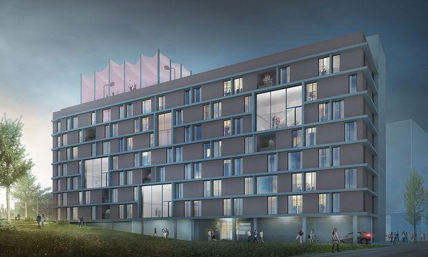 """In Planung: Projekt """"Wohnen für alle"""" in der Wiener Puchsbaumgasse von Gerner Gerner Plus Architekten. / Bild: Gerner Gerner Plus"""