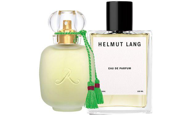 "Nostalgie. ""Un Zest de Rose"" der Parfums de Rosine (115Euro bei Kussmund, Habsburgergasse 14, 1010 Wien), ""Helmut Lang Eau de Parfum"" von Helmut Lang (160 Euro)."