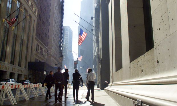 Wall Street in New York September 15, 2001