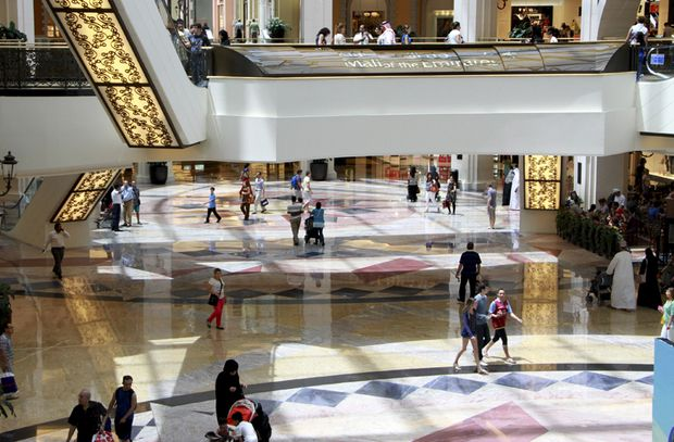 People shop at the Mall of the Emirates in Dubai