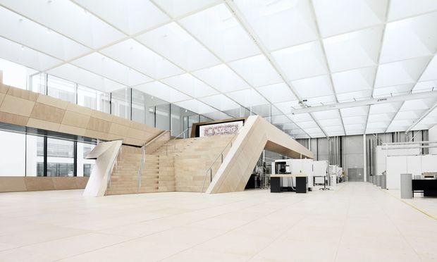 7000 Quadratmeter ist die großzügig ausgelegte, lichtduchflutete Manufaktur groß.