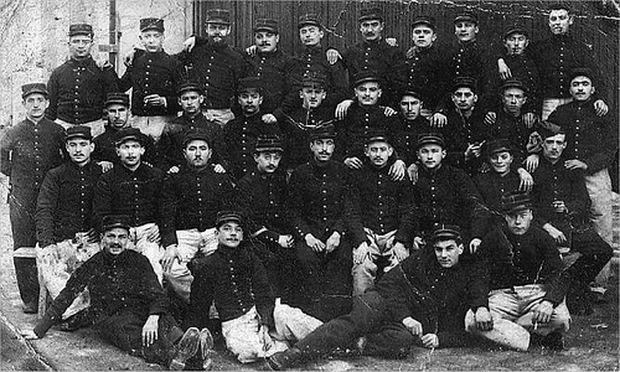 Männer des 44. Infanterieregiments, 1914