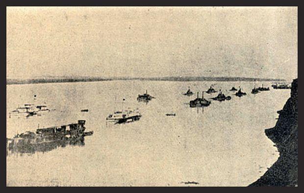 k.u.k.-Schiffe vor Belgrad