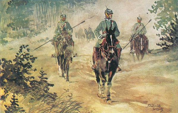 Jäger zu Pferde, 1914