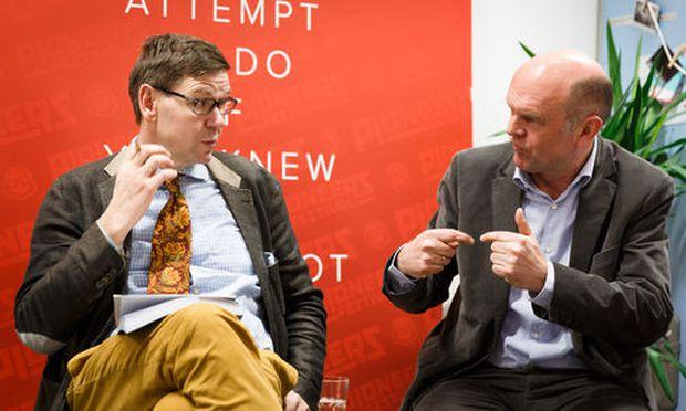 Werner Wutscher (links) im Gespräch mit Michael Meyer (rechts)