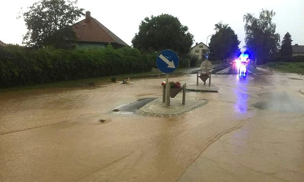 Überschwemmungen im Burgenland.