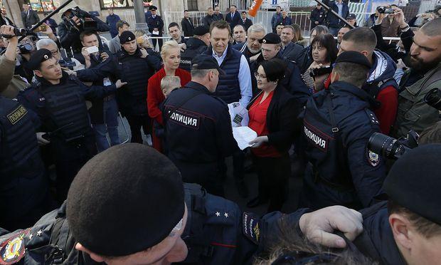 Nawalny vor Protesten in Moskau festgenommen