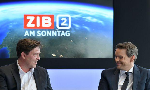 Im Bild: Matthias Schrom (ORF-2-Chefredakteur), Martin Thür.