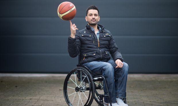 Tan Caglar - Model in a wheelchair