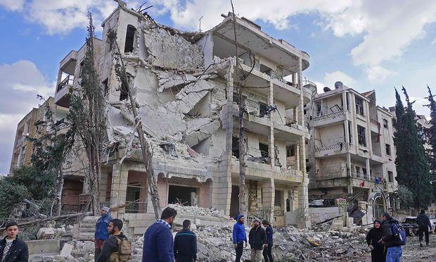 SYRIA-CONFLICT-IDLIB-BOMBINGS