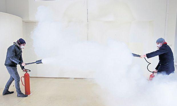 """2013 behandelten Aldo Giannotti und Pablo Chiereghin das """"totale Verschwinden"""". Auch sie präsentieren beim Wiener Kunstsalon in Triest ihre Arbeit."""