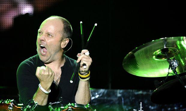 Metallica-Schlagzeuger Lars Ulrich beim Nova Rock Festival 2012.
