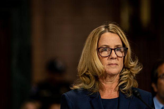 Die Psychologieprofessorin Christine Blasey Ford im Kreuzverhör.
