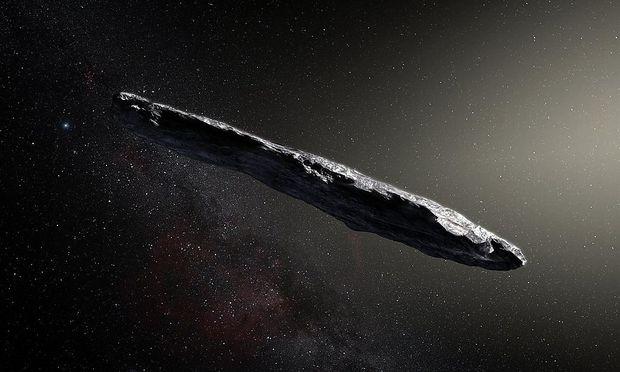 So könnte er aussehen, jener Komet, der aus einem anderen Sonnensystem stammt und erst entdeckt wurde, als er unseres schon wieder verließ.