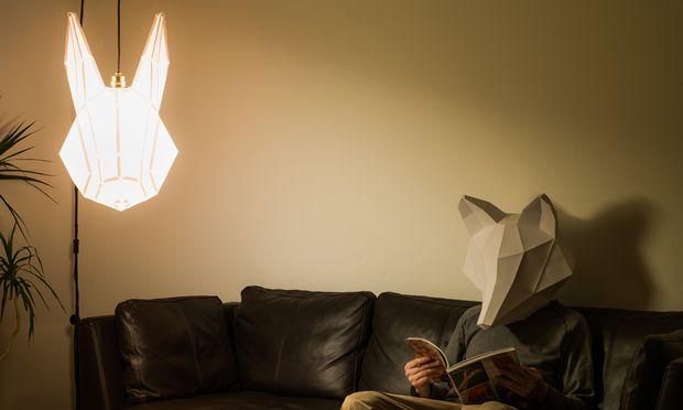 Entwachsen. Die Tierkopf-Papierlampen von mostlikely entstanden zufällig.