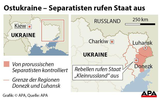 Prorussische Rebellen rufen neuen Staat aus